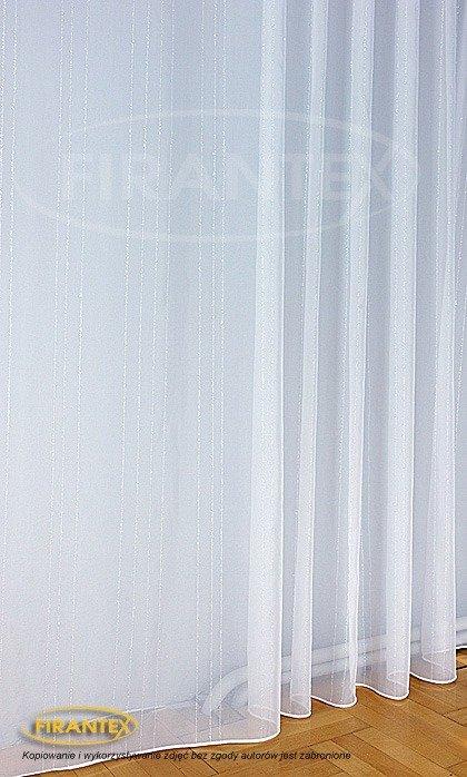 Woal Błyszczący Deszczyk 6188 Kolor Biały